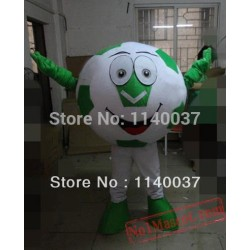 Green Soccer Football Mascot Costume