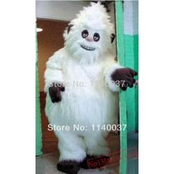 Plush White Snowman Snow Monster Mascot Costume