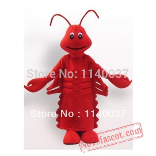 Red Lobster Christmas Food Mascot Costume