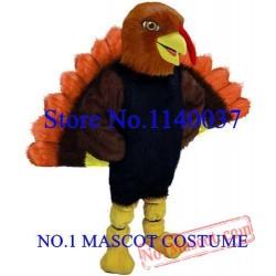 Thanksgiving Day Tom Turkey Mascot Adult Costume
