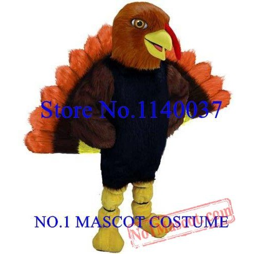 Thanksgiving Day Tom Turkey Mascot Adult Costume