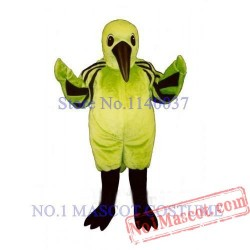 Cute Green Hummingbird Mascot Costume