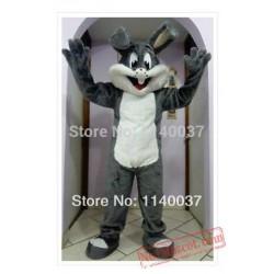 Easter Grey Bugs Bunny Mascot Costume