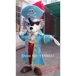 Wolf Pirate Sea Rover Mascot Costume
