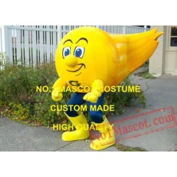 Professional Customized Golden Yellow Comet Mascot Costume
