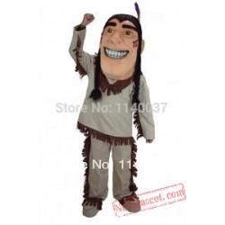 Mascot Happy Brave Indian Mascot Costume