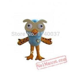 The Owl Mascot With Helmet & Mini Fan