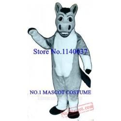 Light Grey Denny Donkey Mascot Costume