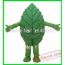 Green Tea Green Leaf Mascot Costume