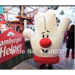 Hamburger Hander Mascot Costume