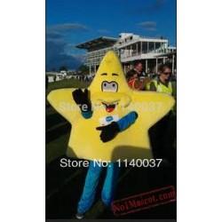 Cute Yellow Star Mascot Costume