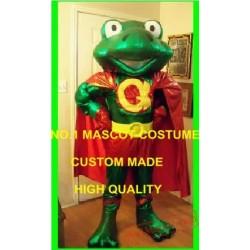 Frog Superhero Mascot Costume